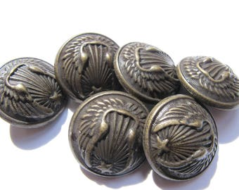 2 ROUND BOMBEES ARMY BRONZE RUSSIAN MILITARY BUTTONS TO TAIL 22 MM DIAMETER