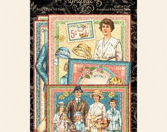 Graphic 45 Penny's Paper Doll Family Ephemera, SC007736