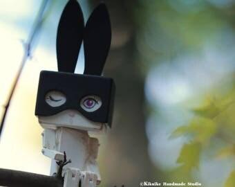 Rabbit Art Doll ,Handmade wooden Art doll,Handcrafted wood  doll---for 1 rabbit