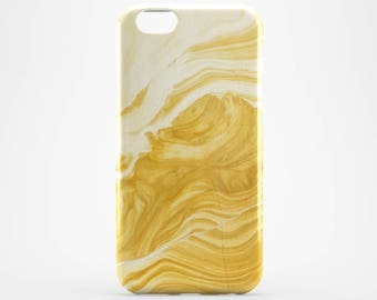 Yellow Marble iPhone 8 Case iPhone X Case iPhone 8 Plus iPhone 6 Case iPhone 4 iPhone 7 Case iPhone 5 Galaxy S8 Plus Case Phone Cover iPhone
