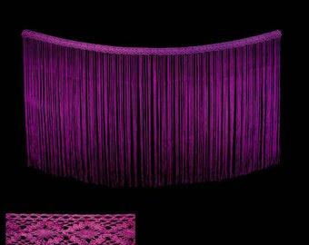 Strip of fringe in bobbin lace