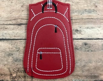 Backpack Luggage Bag Tag Feltie Machine Embroidery Design