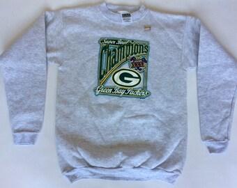 DEADSTOCK Green Bay Packers 1997 Super Bowl Sweatshirt Size Small