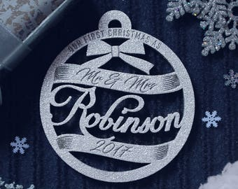 Christmas Ornaments Our First Christmas Ornament First Christmas Gift Ornament Personalized Christmas Ornaments Personalized Wedding Gift 17