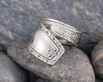Silverware Handle Ring (Spoon Ring) Size 7 1/4 SR121