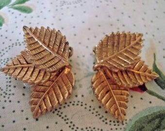 Nettie Rosenstein Cluster Leaf Earrings