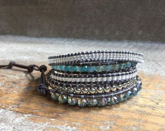 Lainey Beaded Wrap Bracelet