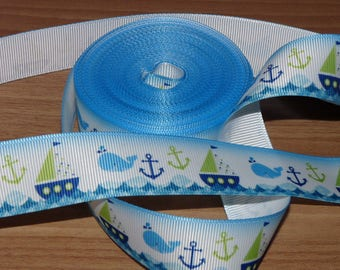 Ribbon grosgrain white boat.