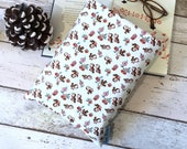 Retro Magpies Book Buddy, Cute Book Pouch, Vintage Style Book Sleeve, Padded Book Cover, Hardback Protector, Quirky Bookworm Gift