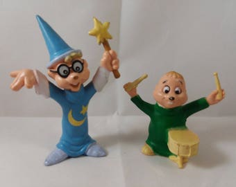 Chipmunks Theodore & Simon Figurines