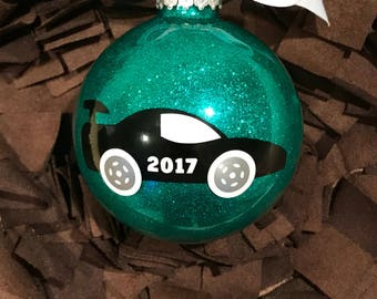 Personalized Race Car Christmas Ornament