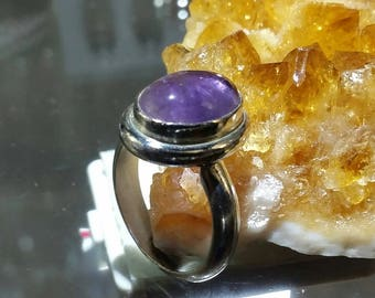 Sterling Silver( size8)  amethyst ring