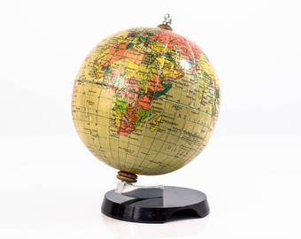 10% OFF World Globe non-existing country. Earth Globe desk. Old World globe from the years 1960 /1970. Vintage globes. Old world maps.