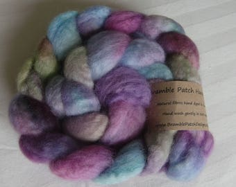 Hand Dyed Blue Faced Leicester Combed Top 100g