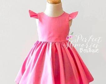 SALE Girl Pink Dress | Baby Pink Dress | Dresses | Pretty in Pink | Pink Dress | Birthday Dress | Party Dress | Flower Girl Dress | Toddler