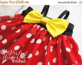 SALE Classic Minnie Mouse Dress | Minnie Birthday Party | Girls Dress | Disney World | Birthday Dress | Disney Vacation | Disney Dress