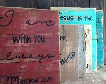 Bible verse pallet wall decor, rustic bible verse, wall hanging, Christian home decor, Christian art, rustic wall hanging, reclaimed art