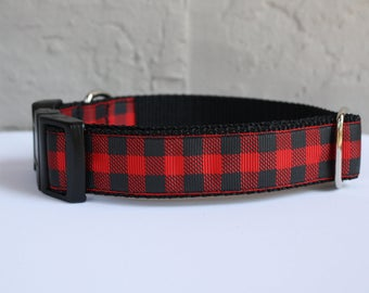 Buffalo Plaid Dog Collar/Plaid Dog Collar