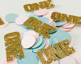 "100ct ONE "" Confetti. First birthday confetti, Birthday  confetti"
