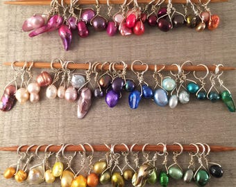 Individual Stitch Marker, Single Color, Any quantity - Your Choice of Color & Size