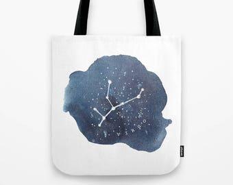 Virgo Constellation Tote Virgo Gifts Star Sign Tote Bag Zodiac Art Canvas Tote Bag Virgo Zodiac Birthday Virgo Star Sign Virgo Accessories