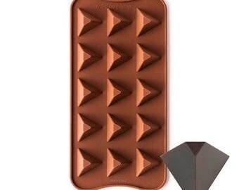 PYRAMID TRIANGLE Silcone Chocolate Mold