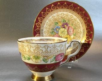 Vintage Royal Standard Portrait Bone China Tea Cup and Saucer England