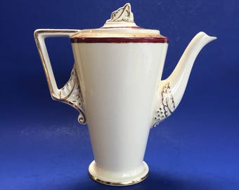 Burleigh Ware Zenith Art Deco English Pottery Antique Teapot