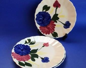 "3 x 7 1/4"" Dinner Salad Plates Blue Ridge Antique American Southern Pottery"