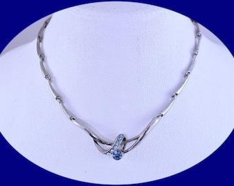 Vintage Rhinestone Necklace Silver Necklace Vintage Brides Necklace Vintage Necklace Art Deco Necklace Vintage Jewelry Costume Jewelry