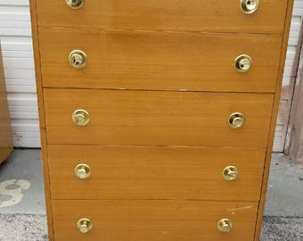 Custom Lacquered MCM Amazing Vintage Tall Dresser with Original Hardware