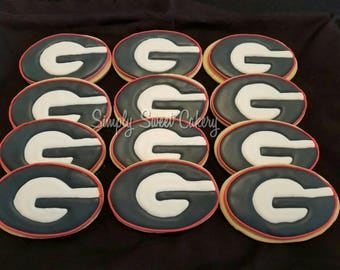 "UGA ""G"" cookies, bulldogs, Georgia, University of Georgia"
