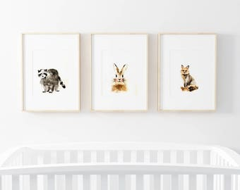WOODLAND ANIMALS - Set of 3