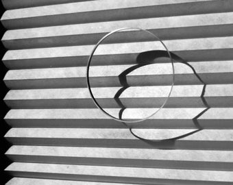 Abstract Window Photograph, Abstract Photography, Circle and Lines Photo, Art Abstract Print, Black White, Studio Art Decor, Cool, Opposites
