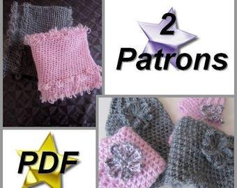 2 PDFPatternCrochet- Snood & Mittens -
