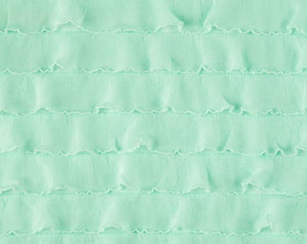 Mint Tiered Ruffle Knit Fabric