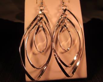 Cool Retro Sterling Silver Dangle Earrings