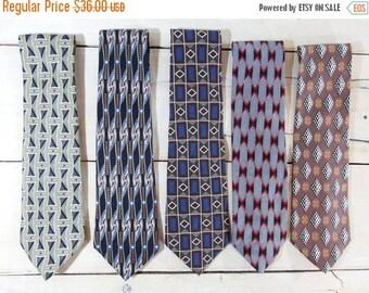 ON SALE Mens ties - vintage ties - mens neckties - dapper gent