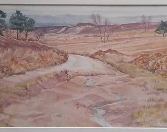 A Moorland scene (PRINT)