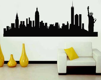 Elegant NYC Skyline, New York Wall Sticker, Interior Sticker, Window Sticker, Car  Sticker Part 30