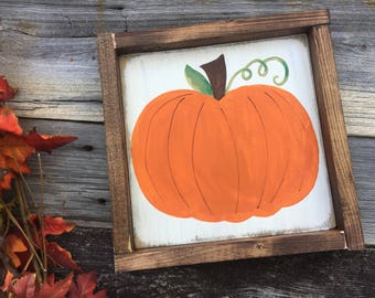 Rustic fall decor, pumpkin sign, pumpkin decor, fall decor, farmhouse decor
