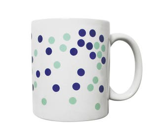 Dot mug mint and bleu - Celeste