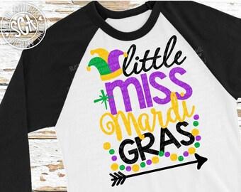 Little Miss Mardi Gras svg, Mardi Gras SVG, socuteappliques, Nola svg, fat tuesday svg, 1st mardi gras svg, mask svg, carnival svg, bead svg