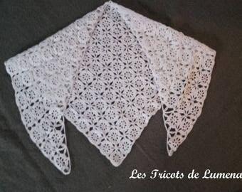 Shawl traditional vintage baby / christening blanket / shawl new born / baby/vintage advanced crochet baby shawl