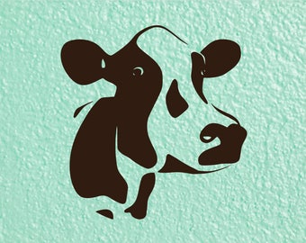 Cow Head Decal for Cars | Cow Car Decal | Cow Love Sticker | Farm Decal  | Dairy Cow Decal | Cow Window Decal | Cow Tumbler Decal