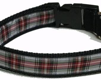 Dog Collar, Plaid - Black