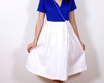 1960s Summer Color Block Day Dress