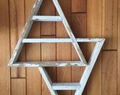 Single Peak Geometric Shelf w reverse flip