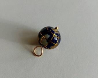 Vintage earth globe pendant