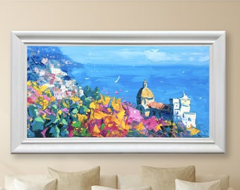 Positano Painting Oil Painting Original Art Impressionism Art Work Home Decor Ideas Gift for Her Wife Gift For Husband Christmas Gift Ideas